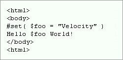 Velocity hello world snapshot