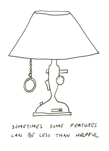 A lamp with slightly too many features