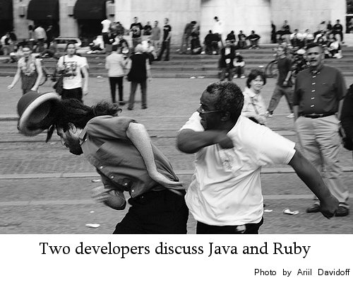 Developers discuss Java and Ruby