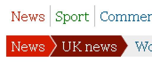 Guardian.co.uk global navigation bar