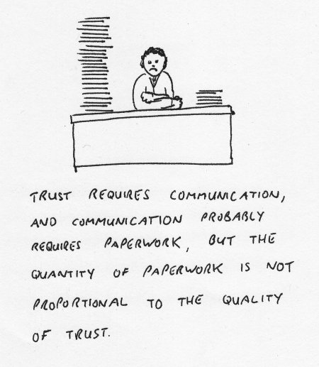 Paperwork is not proportional to trust