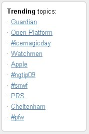 The Open Platform trends on Twitter