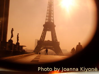 Sepia Eiffel Tower, by Joanna Kiyoné