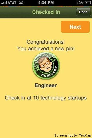 Startup pin. Screenshot by TexKap