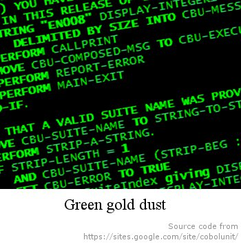 Green gold dust